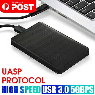 "USB 3.0 External 2.5"" SATA SSD HDD Hard Disc Drive Enclosure Case Black"