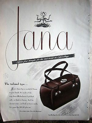 1967 Jana Handbags Hubschman's Polished Calf Purse Bag Ad