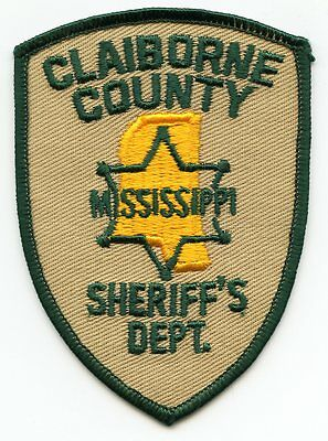 old vintage CLAIBORNE COUNTY MISSISSIPPI MS SHERIFF POLICE PATCH