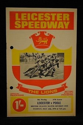 SPEEDWAY - Leicester vs Poole - 12 May 1970