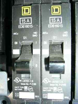 15 Amp, 1 Pole, 600 Volt, Molded Case Circuit Breaker, Square D