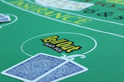Rollout Gaming Blackjack Table Top Layout - Rubber Lind Bottom - Beter Than Felt
