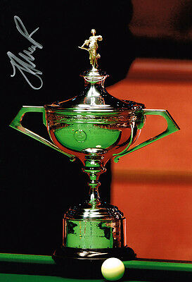 Judd Trump IN PERSON SIGNED Autograph 12x8 Photo AFTAL COA World Snooker Trophy