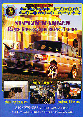 1997 Range Rover Cameron Concepts -  Classic Vintage Advertisement Ad D17