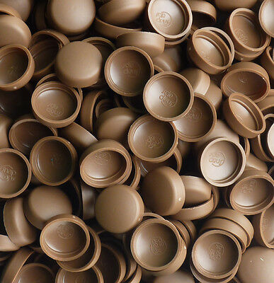 50 x LARGE WOOD ROSE BROWN,TWO PIECE DOME SCREW CAP COVERS SNAP CAPS PRO-DEC