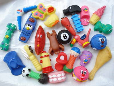 QUALITY CHEAP squeaky toys (20)     RRP £1.49+++ each