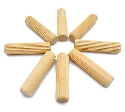 500, 5mm x 30mm FLUTED HARDWOOD WOODEN WOOD DOWEL PIN FOR CABINET MAKING ETC. *