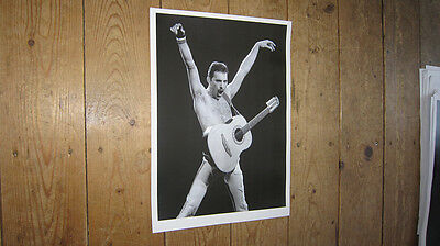 Freddie Mercury of Queen SuperGroup Arms Guitar POSTER