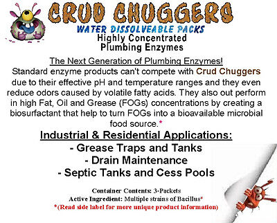 Crud Chuggers Plumping, Grease Trap & Septic Tank Enzyme Packets