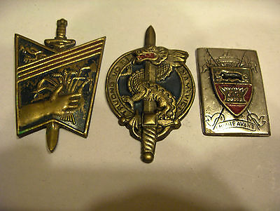 LOT 3 INSIGNES BADGE INDOCHINES ( fabrication local )
