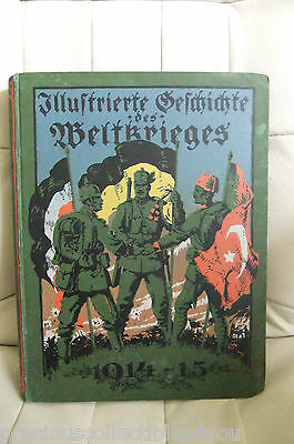 Original GERMAN WW1 WWI Photo Book ILLUSTRATED HISTORY OF WORLD WAR PICTURES 4TH