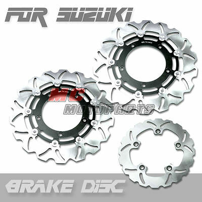 Front Rear Brake Disc Suzuki GSF 1250 Bandit S ABS 07 08 09 10 11 K7 K8 K9