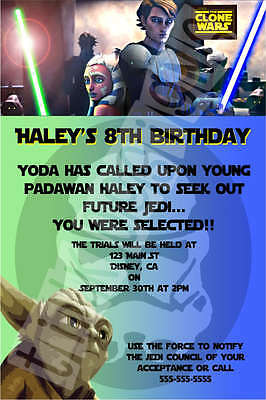Star Wars invitation birthday party favor