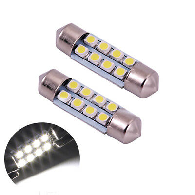 2 ampoules navettes 39 mm 8 LED plafonnier C5W  BLANC xenon  NEUF