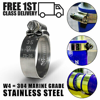 Stainless Steel 304 JCS Hi-Grip Clamps Marine grade Jubilee Type Hose pipe Clips