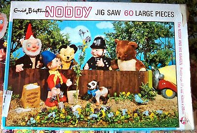 1968 PUZZLE * NODDY and his garden / VINTAGE INCOMPLETE 59/60 pieces OUI-OUI