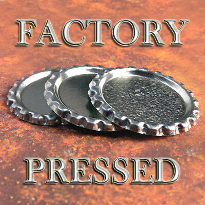 1000 QTY - FLAT BOTTLE CAPS FACTORY PRESSED Flattened Bottlecap Necklace Jewelry
