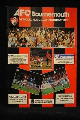 PROGRAMME - LC 1st - AFC Bournemouth vs Cardiff City - 27 Aug 1991