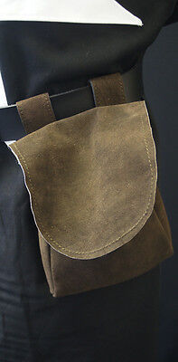 Medieval/LARP/SCA/Re enactment/Archer/Merchant LEATHER hang from belt BAG large
