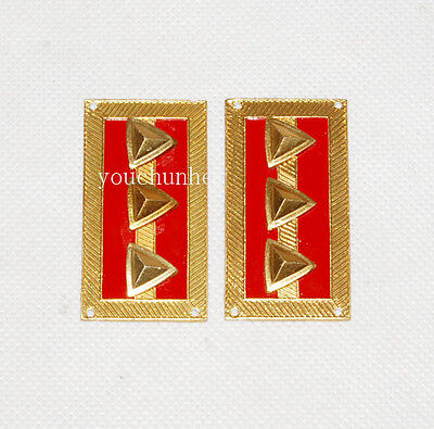 Wwii Chinese Kmt Kuomintang Army Captain Collar Tabs -32040