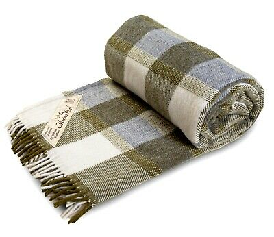 Merino Pure Wool Tartan Blanket / Picnic Rug / Throw 160x200 cm PERFECT FOR GIFT