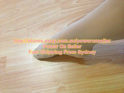 Jazz Dance convertible Tights Tan with plain waist & gusset Size Child to Adult
