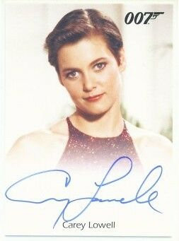 "Carey Lowell ""autograph"" James Bond 50Th Anniversary"