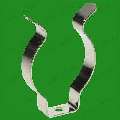 """10x T8/T12 Fluorescent Tube Clip Holders, 1""""-1.5"""" Terry Clips"""