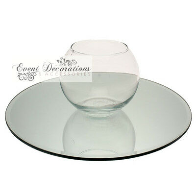 ROUND MIRROR PLATES, AVAILABLE IN 20, 25, 30 or 40CM FOR WEDDING, FLORAL, PARTY!