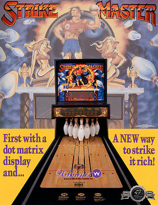 1991 Williams Strike Master Shuffle Alley Arcade Flyer