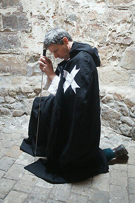 Teutonic/Medieval/LARP/SCA/Re enactment KNIGHT'S HOSPITALLER CLOAK all sizes