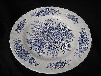 Dinner Plate   Beacon Hill Hostess Tableware Blue Staffordshire  England 10 inch