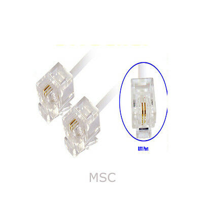 3M RJ11 BT Cable Lead for ADSL Modem Router Internet UK FREE POSTAGE IN UK