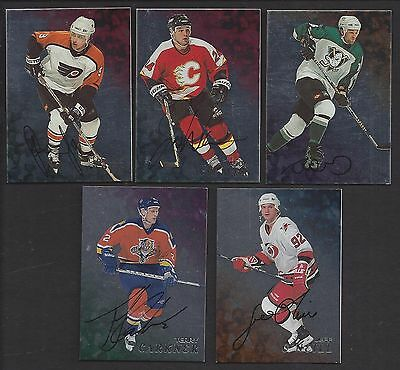 Lot Of 5  Different 1998/99 Be A Player Autograph Cards Nm/mt - Mint