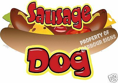 "Sausage Dog Decal 12"" Hot Dog Cart Concession Food Truck Van Stand Vinyl Sticker"