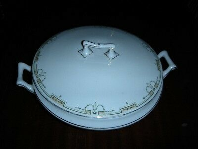 VINTAGE COVER SERVING DISH BY W H GRINDLEY & CO ENGLAND
