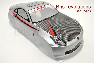 Revolution 1/10 Nissan Fairlady Analog Painted RC Car Body (Grey)