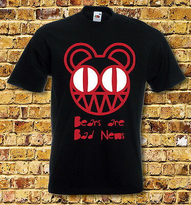Radiohead Bears are Bad News T Shirt New Black or White