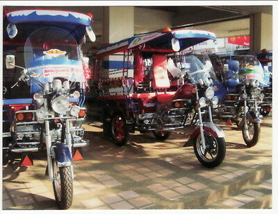 Postcard of Tuk Tuk Moto-Taxi Rickshaw Vehicle Showroom in Thailand