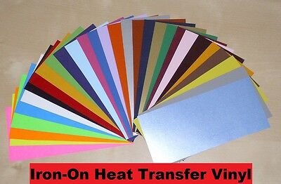 IRON-ON Heat Transfer Vinyl  -  SAMPLE Sheet for ALL Cutting Machines