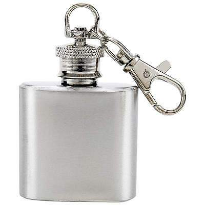 New 1 oz Mini Stainless Steel Small Keychain Flask Screw Cap Drink Container