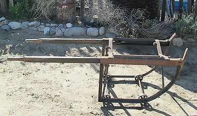 Antique Shields Harper Co Wizard Steel Barrel Dolly Wood Handles Patent 1490361