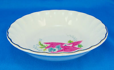 W S George PINK CALADIUMS B8761 Fruit / Dessert Bowl 5.125 in. Leaves Scalloped
