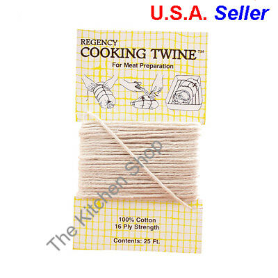 Cooking Twine100% Cotton Butcher's String  25 ' Feet Chef Grade (FREE SHIPPING)