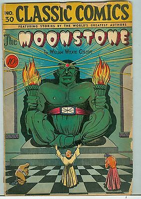 Classic Comics No. 30 first printing 1946 Moonstone William Wilkie Collins