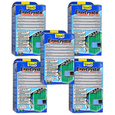 5 Packs Tetratec Easy Crystal Carbon Filter Pack 250/300 Tetra Tec Easycrystal