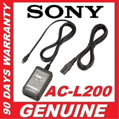 Genuine Original OEM SONY AC-L200 ACL200A ACL200B ACL200C AC Adapter Power Cord