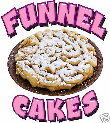 "Funnel Cakes Decal 10"" Powdered Sugar Concession Food Truck Vinyl Menu Sign"