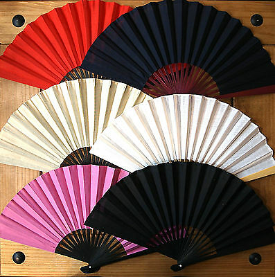 Chinese Cotton Folding Fan, Many Colours,23CM