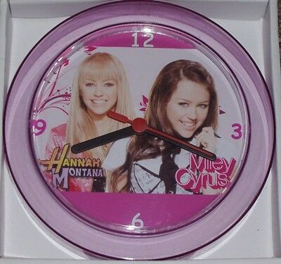 "HANNAH MONTANA & MILEY CYRUS Novelty Wall Clock 7"" NEW"